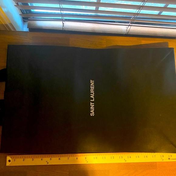 Saint Laurent Black Paper Shopping Gift Bag